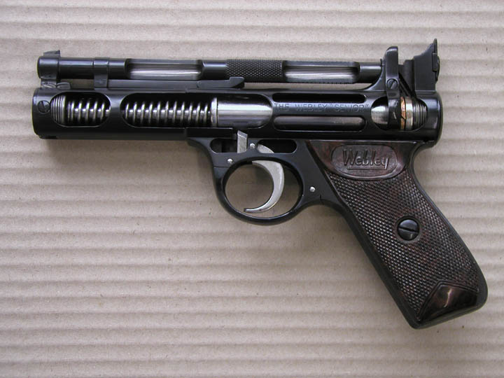 dating webley senior air pistol At jc militaria we stock a number of air weapons this is an excellent webley senior 22 calibre air pistol it is undamaged with brown plastic grips.